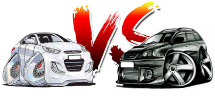 Hyundai Solaris VS Toyota Caldina Turbo